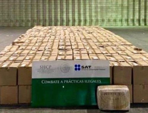 SAT decomisa metanfetaminas y marihuana con valor aproximado de 3.5 mdd.