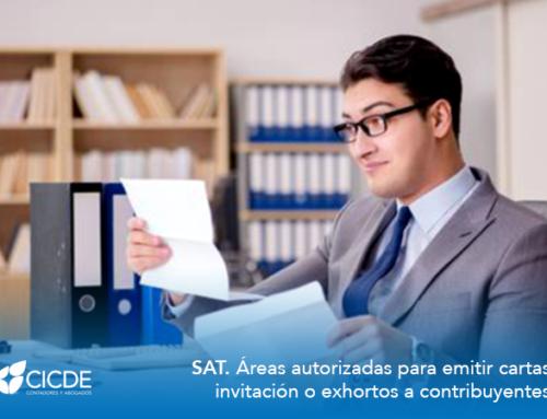 SAT. Áreas autorizadas para emitir cartas invitación o exhortos a contribuyentes