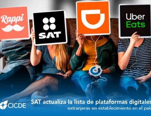 SAT actualiza la lista de plataformas digitales extranjeras