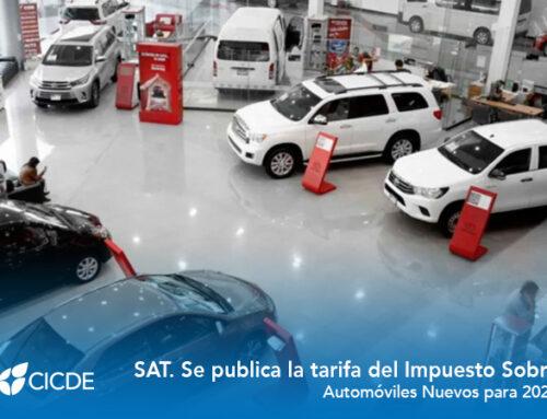 SAT. Se publica la tarifa del Impuesto Sobre Automóviles Nuevos para 2021