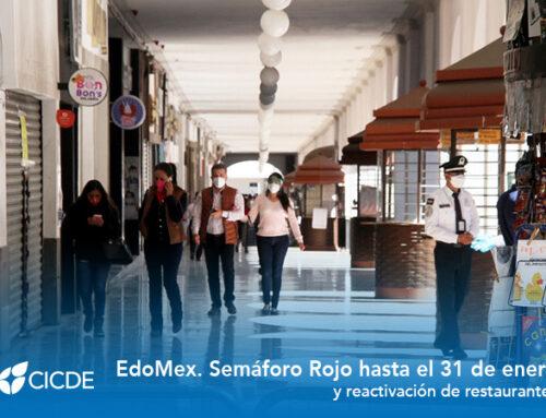 EdoMex. Semáforo Rojo hasta el 31 de enero y reactivación de restaurantes.