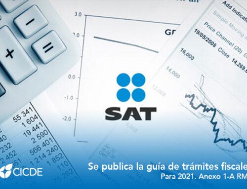 SAT. Se publica la guía de trámites fiscales para 2021. Anexo 1-A RMF