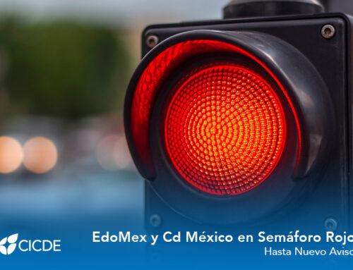 CDMX y EdoMex en semáforo ROJO hasta nuevo aviso
