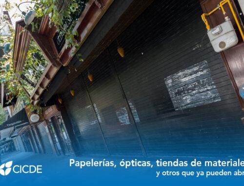 CDMX. Papelerías, ópticas, tiendas de materiales y otros que ya pueden abrir.
